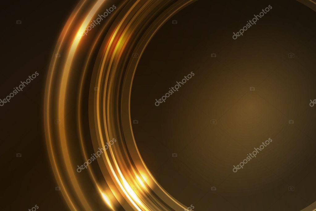 cadre lumineux dor des segments d 39 anneau rond image. Black Bedroom Furniture Sets. Home Design Ideas
