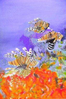 """Картина, постер, плакат, фотообои """"живопись маслом тайского художника абстракция"""", артикул 9704671"""