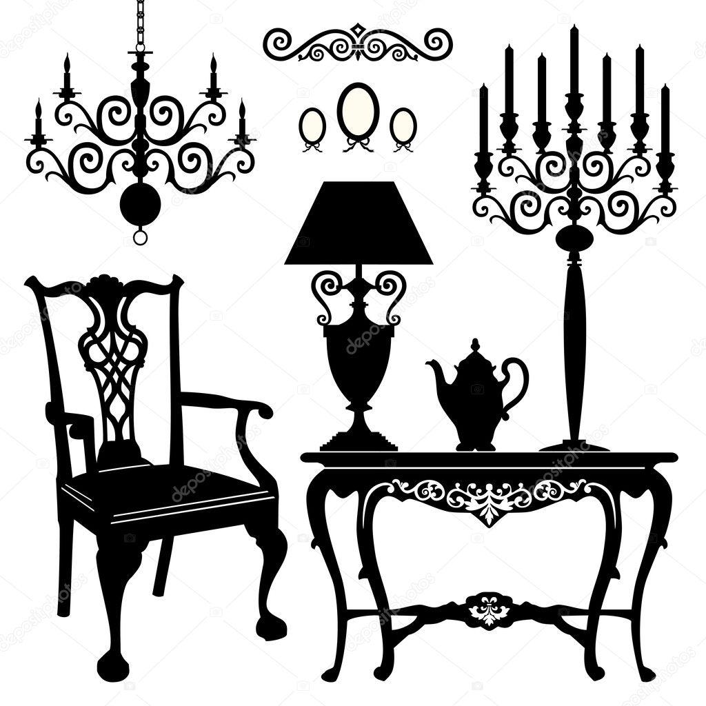 Antique Furniture Stock Vector 169 Elakwasniewski 8020613
