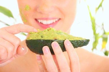 Fresh avocado mask