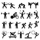 Fényképek Beltéri Sport játék, sportos ikon beállítása szimbólum jel piktogram