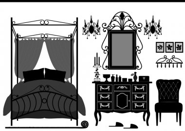 Royal Bedroom Room Old Antique Victorian Furniture