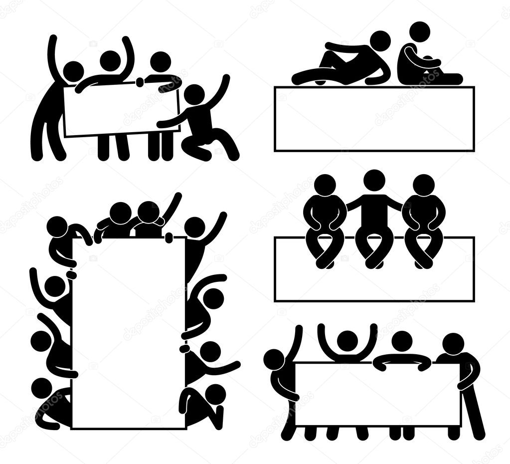 Happy family icon sign symbol stock vector leremy 7096965 friend community teammate holding showing empty blank banner icon symbol biocorpaavc Images