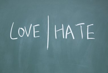 Love and hate symbol