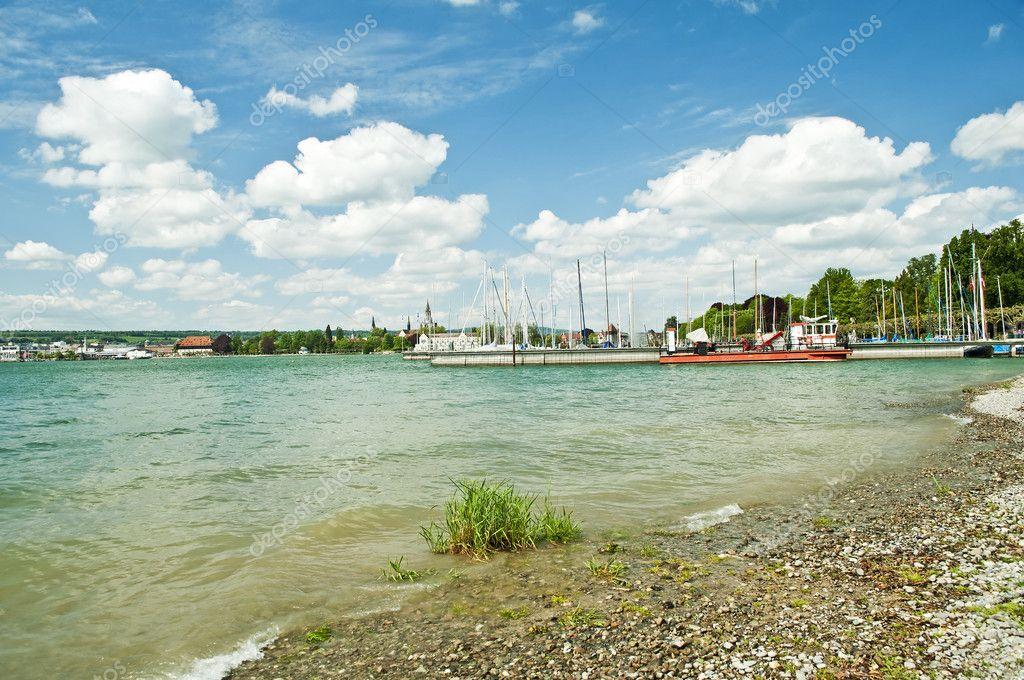 Bodensee Germany View To Konstanz Stock Photo C Jochenschneider