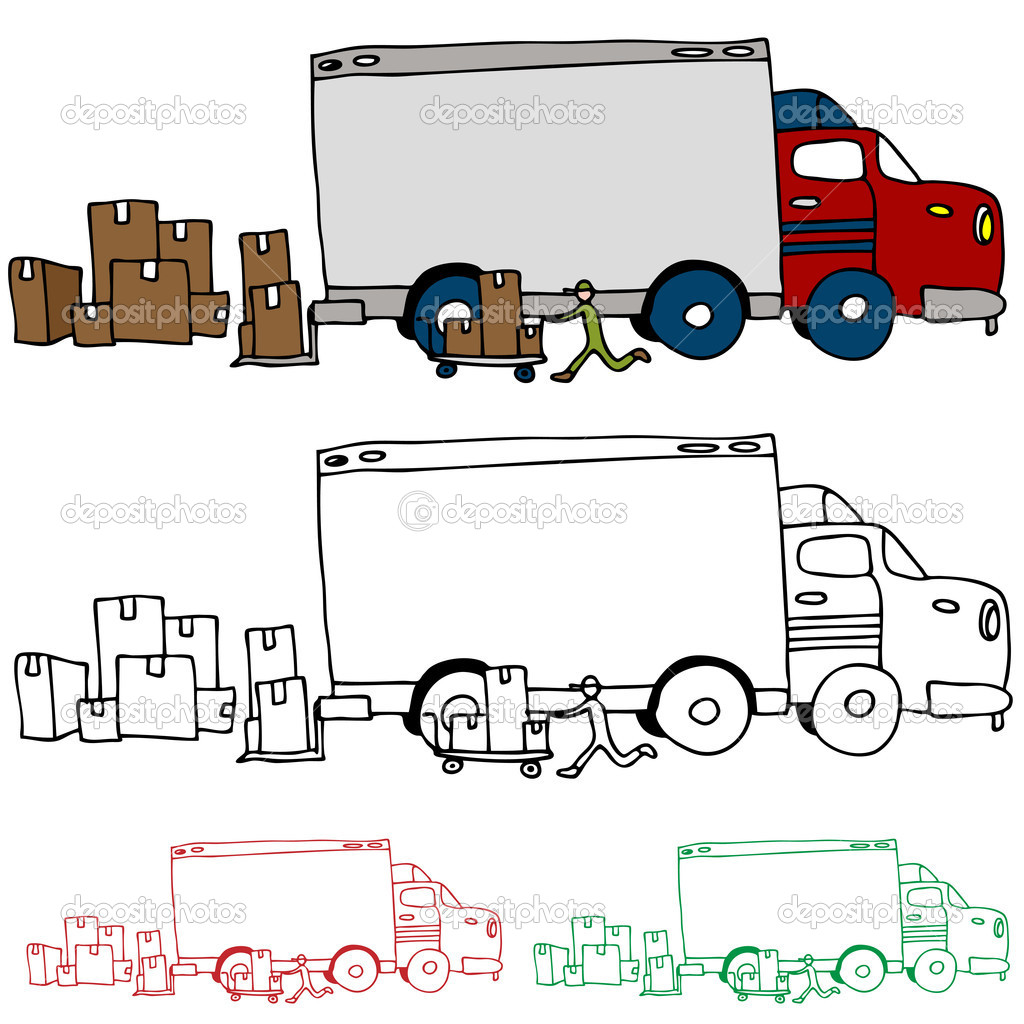 vue de profil de camion de d m nagement image vectorielle cteconsulting 8069127. Black Bedroom Furniture Sets. Home Design Ideas