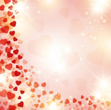 Valentine day background with red drapery and stars clip art vector