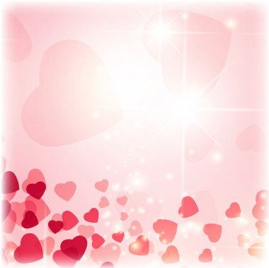 Valentine day background with hearts and stars clip art vector