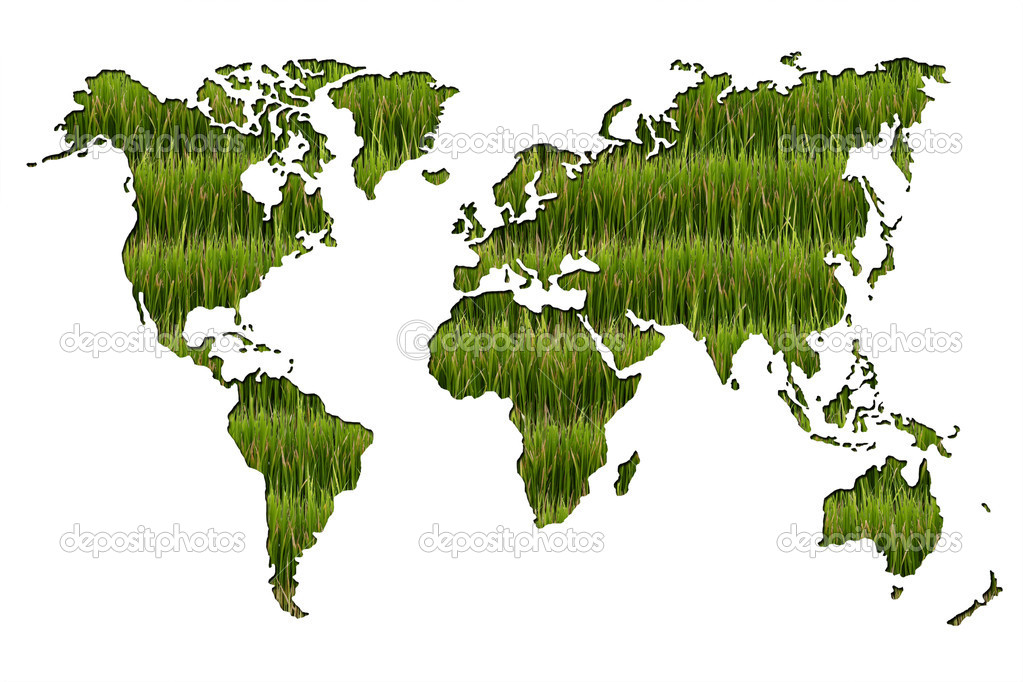 Agriculture World Map.World Map Of Agriculture On White Background Stock Photo