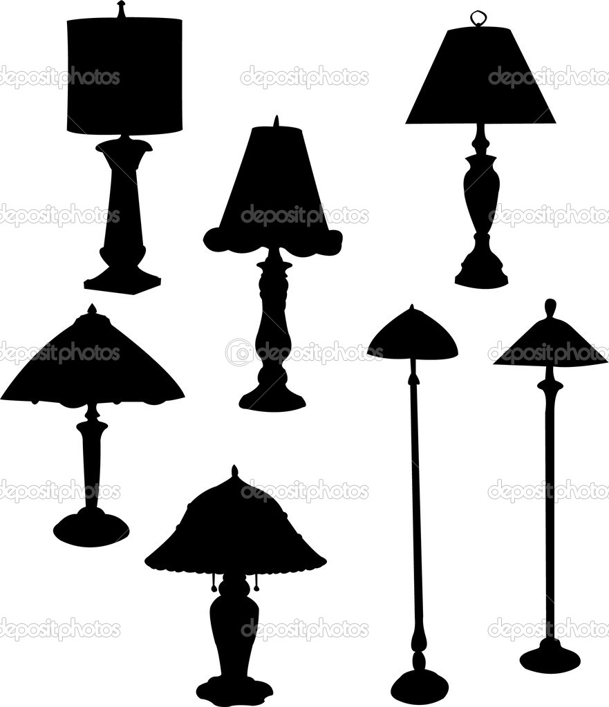Lamp silhouette — Stock Vector © paunovic #8699248