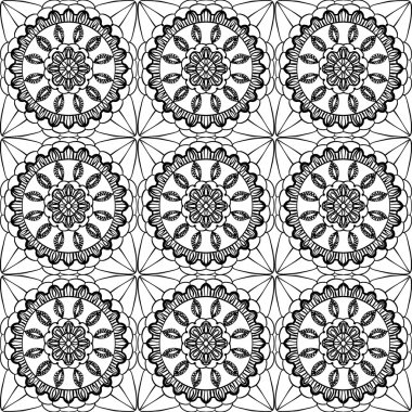 Lace of openwork squares