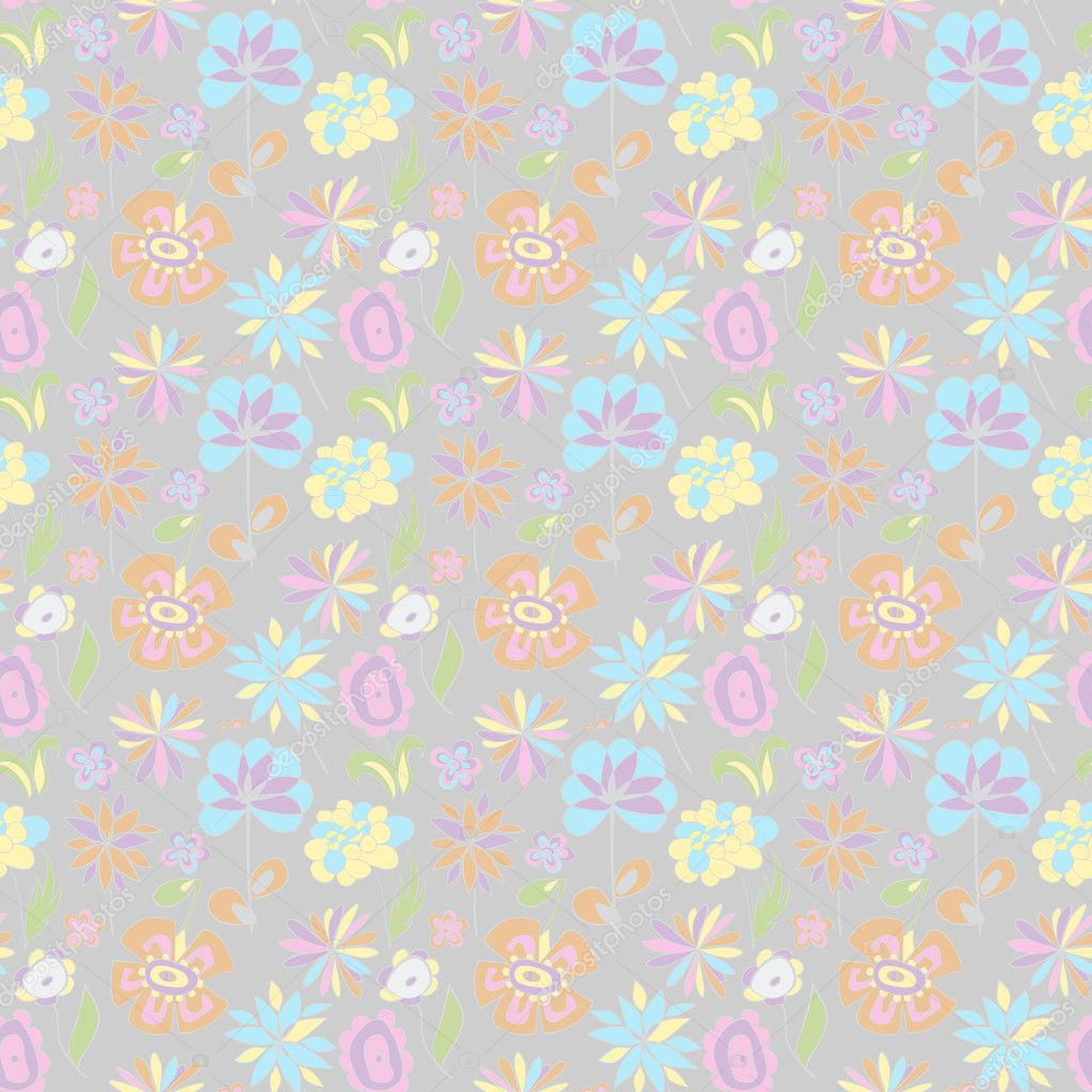 Pattern Of Pastel Colors On A Gray Background Stock
