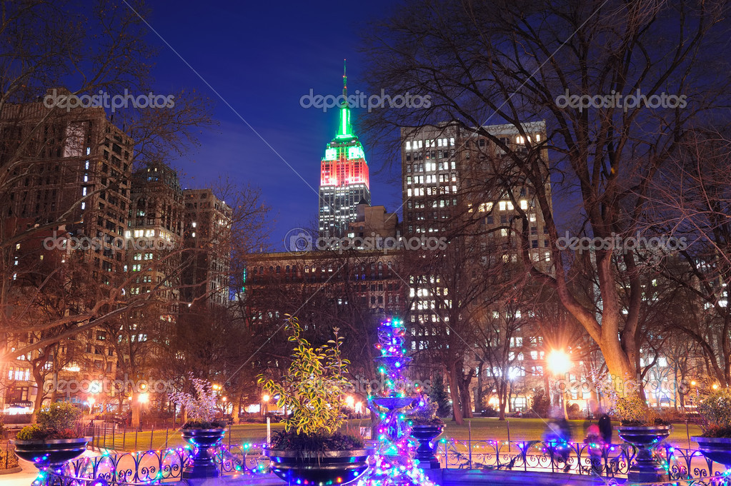 New York City-Weihnachten — Redaktionelles Stockfoto © rabbit75_dep ...