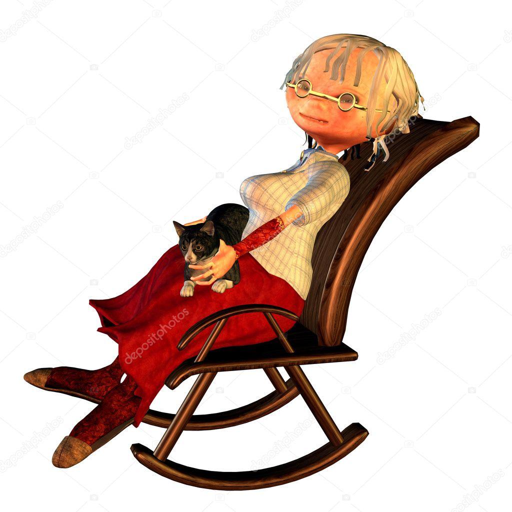 Бабушка на кресле картинка