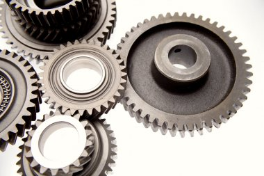 Gears on plain background
