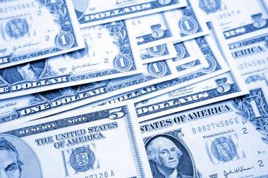 Closeup of American banknotes