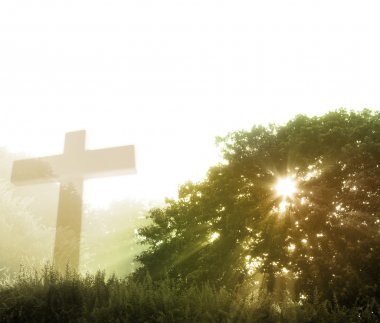 Cross and god rays