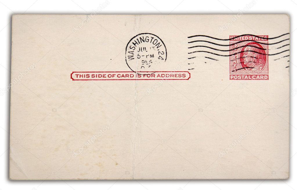 Белые, штампы для почтовых открыток