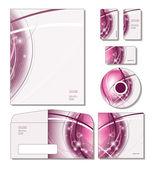 Firemní identita šablony vektor - Hlavičkový papír, vizitky, cd, cd obal, obálka