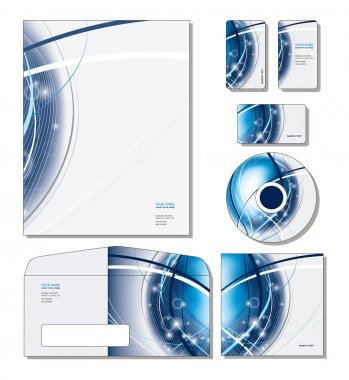 Corporate Identity Template Vector - letterhead, business cards, cd, cd cover, envelope.