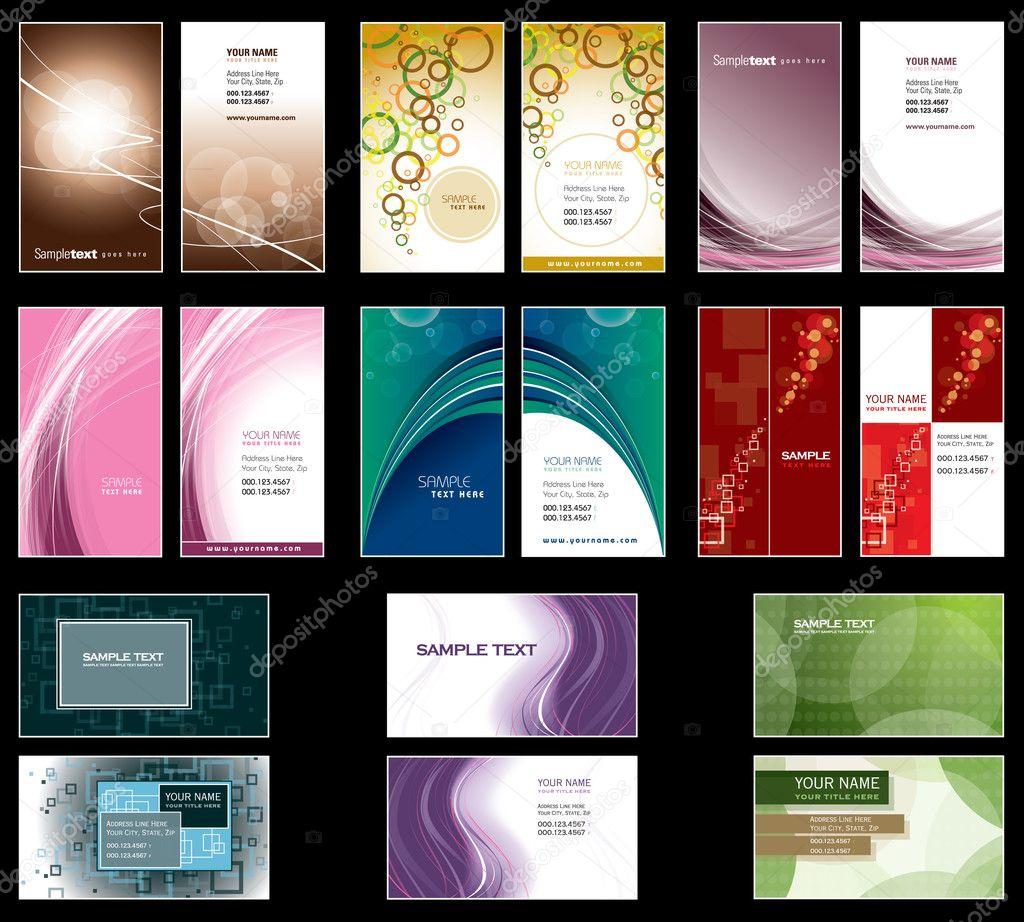 Modeles De Carte Visite Conception Vecteur EPS10 Format Illustration Stock