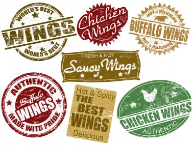 Set of wings stamp