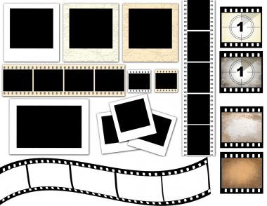 Instant photo frames and film strip