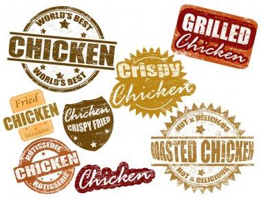 Set of chicken stamp