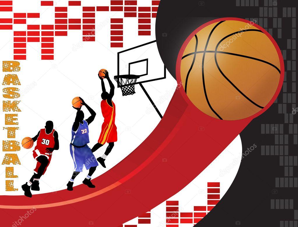 arri re plan affiche de basket ball image vectorielle roxanabalint 9035323. Black Bedroom Furniture Sets. Home Design Ideas