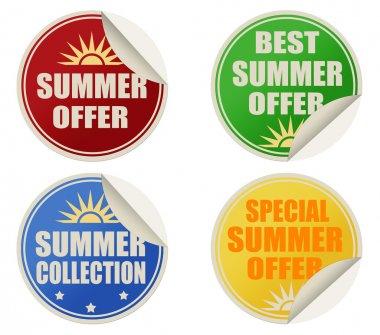 Best summer offers stickers set