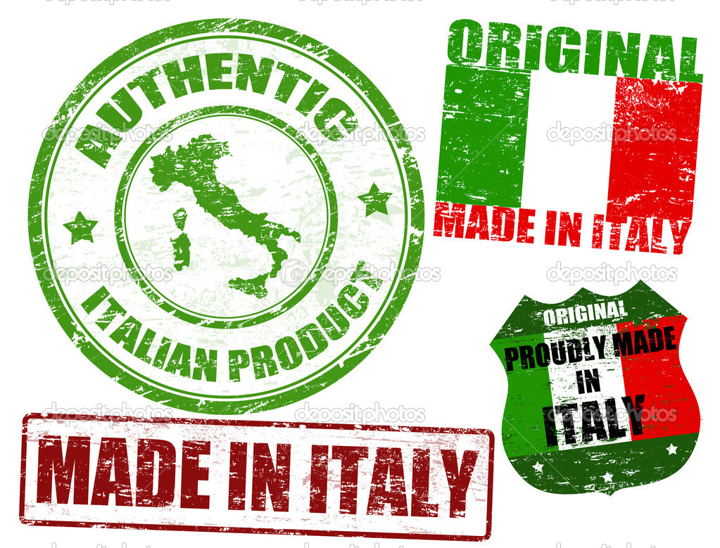 Made in italy stamps stock vector roxanabalint 9686107 for Made com italia