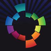Abstraktní barevný kroužek