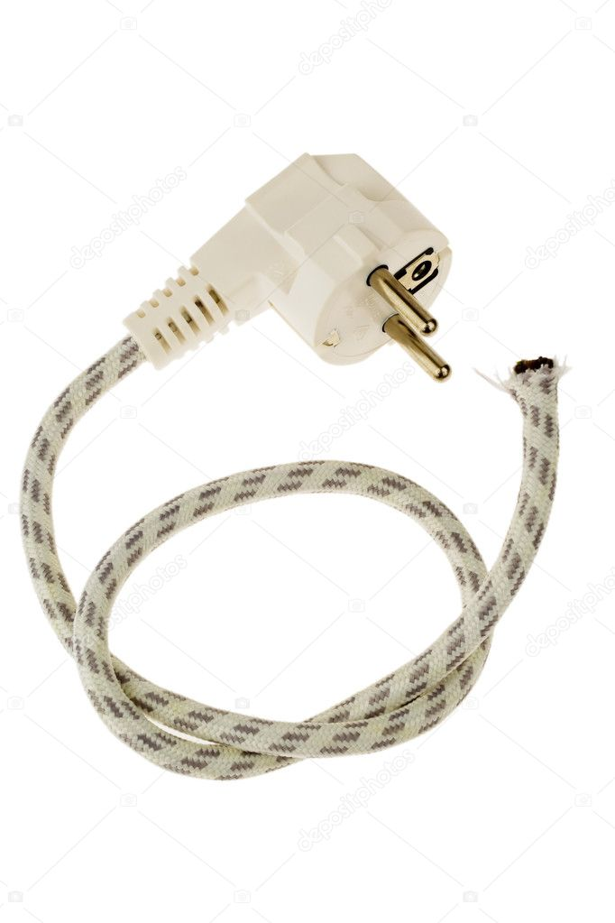 Power plug and severed cable — Stock Photo © ginasanders #8166437