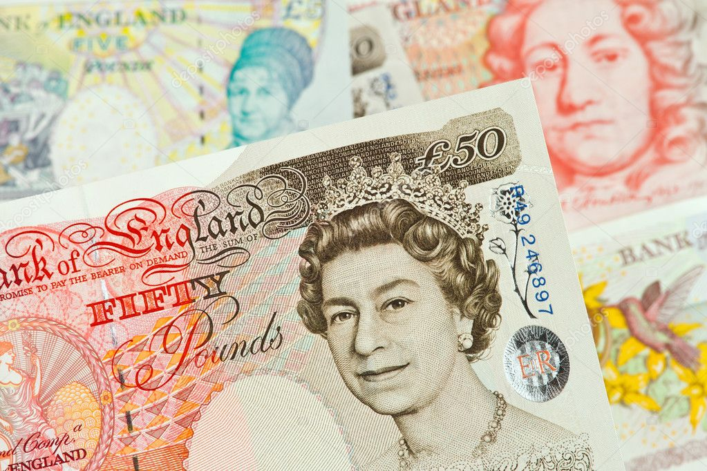 British Pound Notes Banknotes Cur Stock Photo