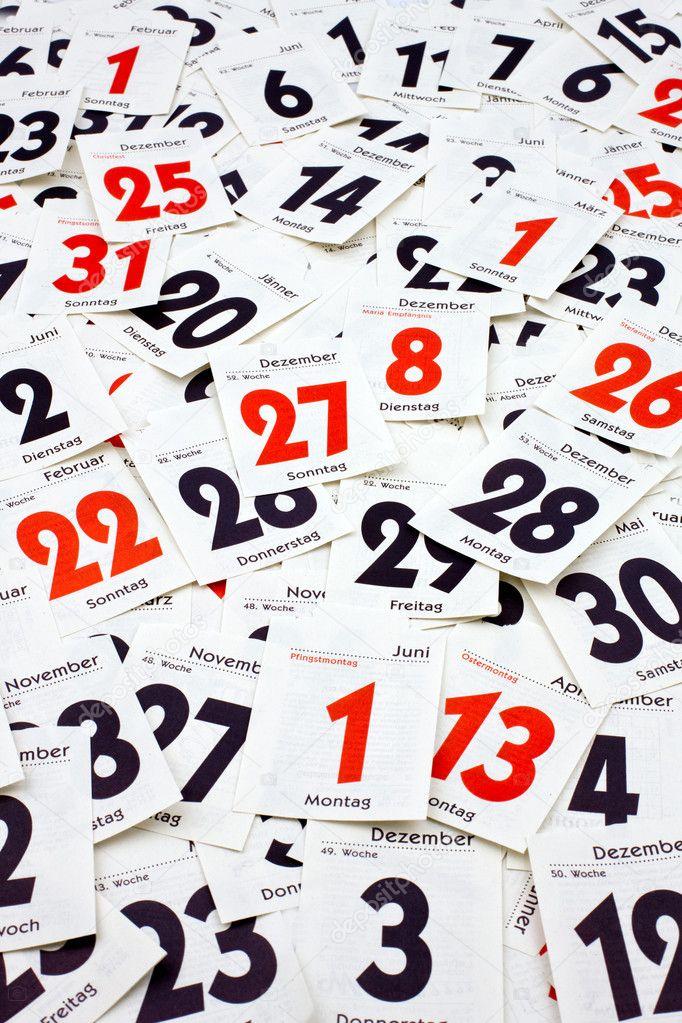 Calendar sheets — Stock Photo © ginasanders #8315769