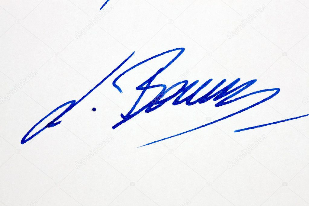 Signature For A Letter from static8.depositphotos.com
