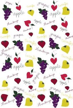 Love fruit background