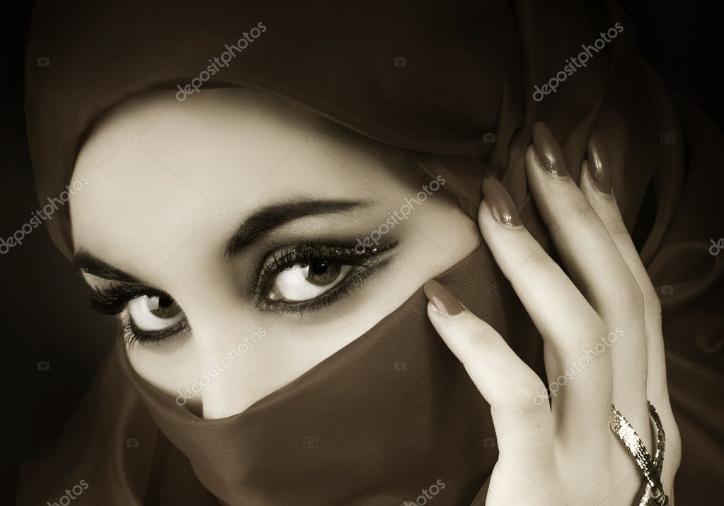 Portrait of a young arabian muslim girl