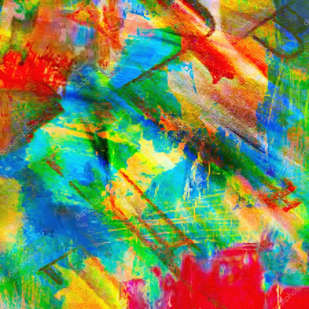 pintura al leo abstracto color u foto de stock