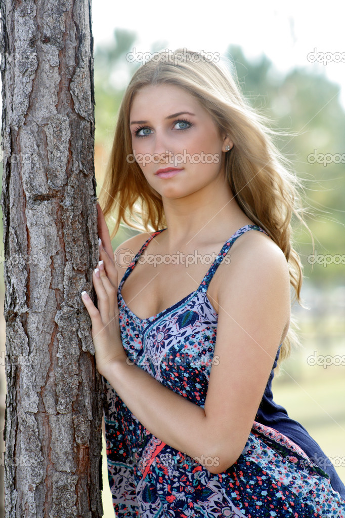 Beautiful Young Blonde Outdoors 3 Stock Photo C Csproductions