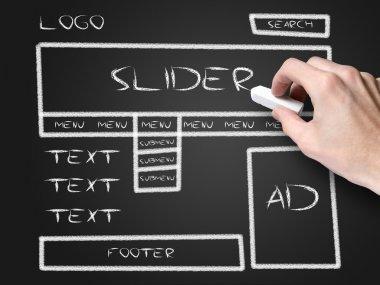 Website development sketch stock vector