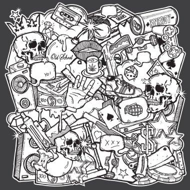 Illustration of mix background