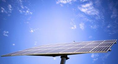 Solar panel against blue sky