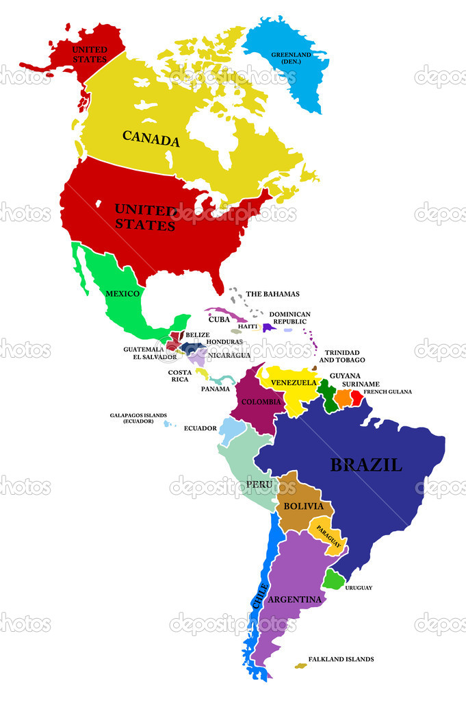 A map North and South America — Stock Photo © lina0486 #10128817