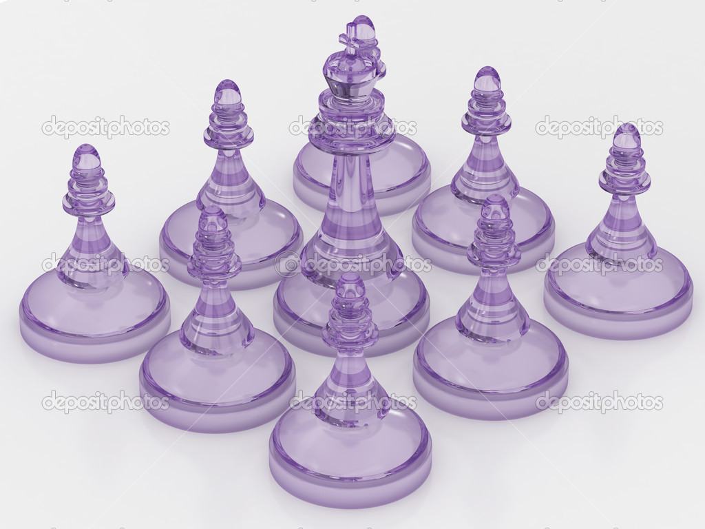 Chess King Is Surrounded By Pawns Stock Photo Lina0486 10539307