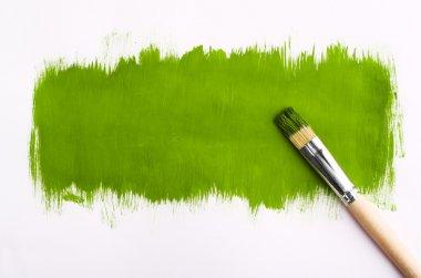 Brush for paint. On gray background. designer