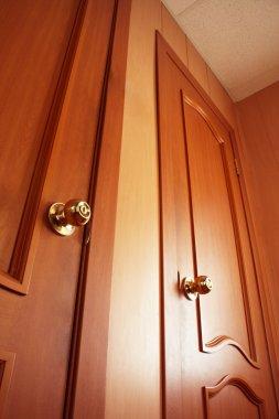 Wooden door. Interior, photo