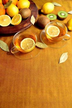 Lemon tea and lemon