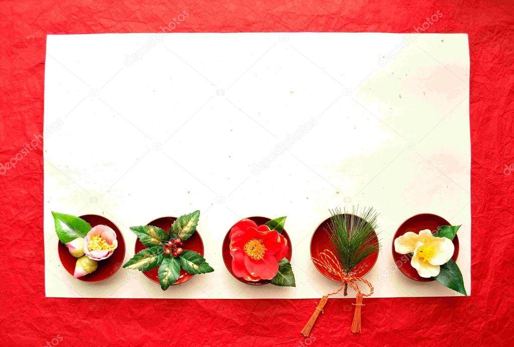 las camelias con hojas de pino de 3 colores — Fotos de Stock ...