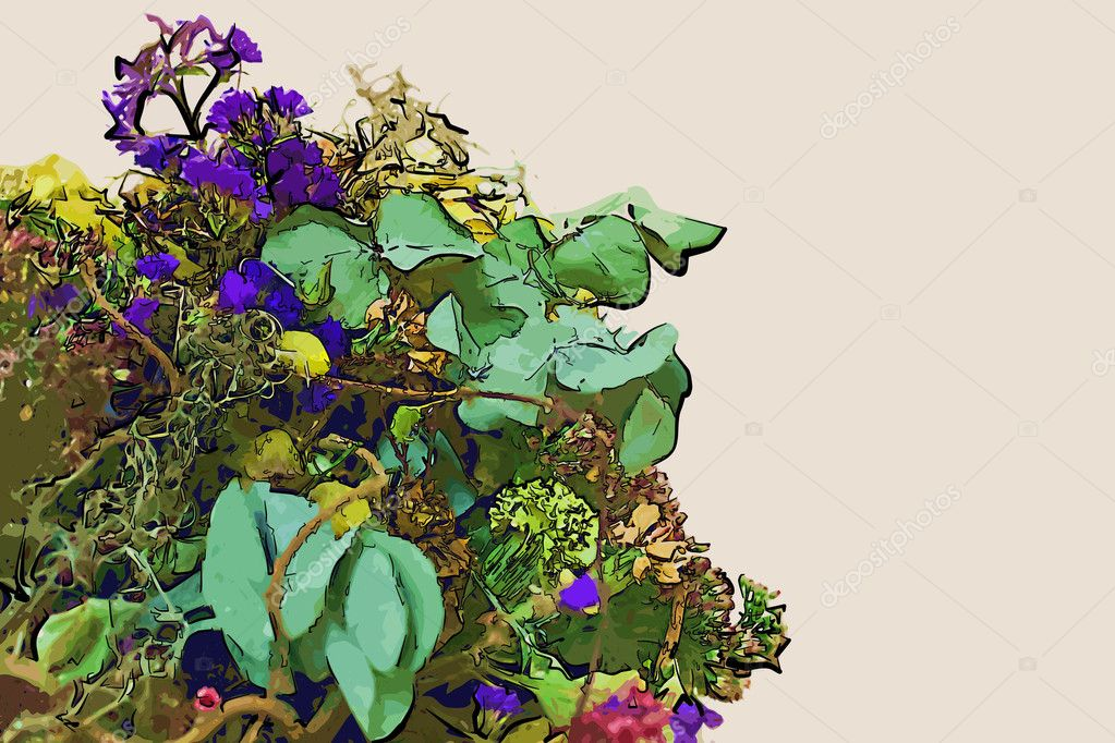 Kresleni Kvetiny Stock Fotografie C Suriko 8762954